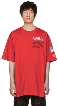 Heron Preston Red Cotton T-Shirt
