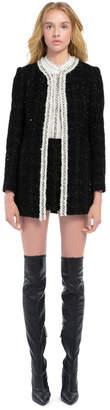 Alice + Olivia Andreas Crystal Collar Jacket
