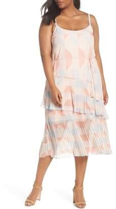 Cooper St Goldie Tassel Pleated Chiffon Midi Dress