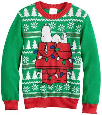 Boys 4-8 Jumping Beans Peanuts Snoopy Knit Holiday Sweater