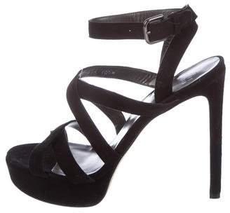 Stuart Weitzman Crossover Platform Sandals