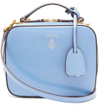 Mark Cross Laura Mini Patent Leather Shoulder Bag - Womens - Light Blue