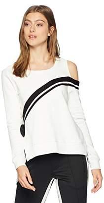 Pam & Gela Women's Cold Shoulder Sweatshirt