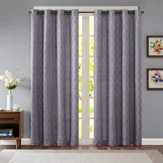 Madison Park 1-Panel Ezra Diamond Jacquard Window Curtain