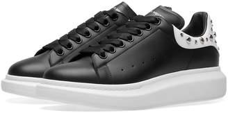 Alexander McQueen Wedge Sole Studded Heel Tab Sneaker