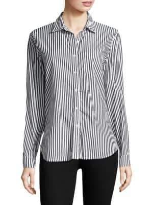 Stateside Raw Edge Button-Down Shirt