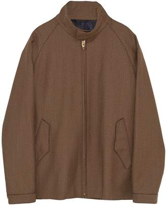 Camoshita Stand collar houndstooth jacket