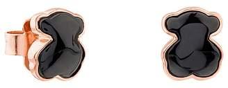 Tous Onyx Mini Bear Stud Earrings