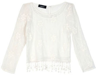 Ally B Girls 7-16 Crochet Floral Top $38 thestylecure.com
