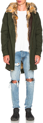 Mr & Mrs Italy Canvas Parka with Patch Virginia Fox $4,765 thestylecure.com