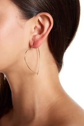 BaubleBar Gold Plated Joy Threader Hoop Earrings