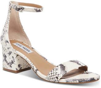 0a65025b8e Steve Madden Women Irenee Two-Piece Block-Heel Sandals
