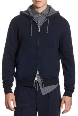 Brunello Cucinelli Two-Way Zip Sweatshirt