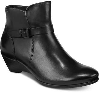 Ecco Women Sculptured 45 Wedge Booties Women Shoes