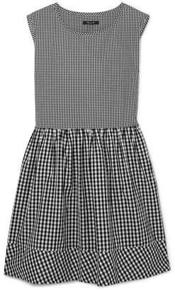 Madewell Gingham Cotton-poplin Dress - Black
