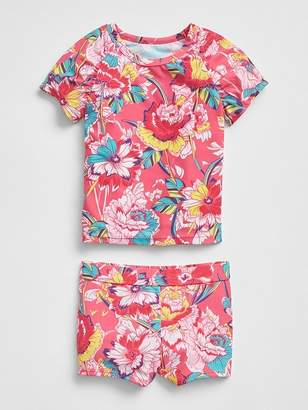 Gap Rashguard Swim Two-Piece Set