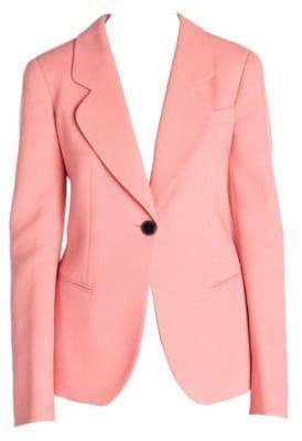 Giorgio Armani Women's One-Button Stretch Wool Blazer - Coral - Size 44 (8)