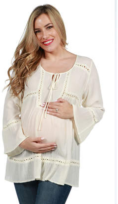 24/7 Comfort Apparel Kendra Maternity Tunic Top