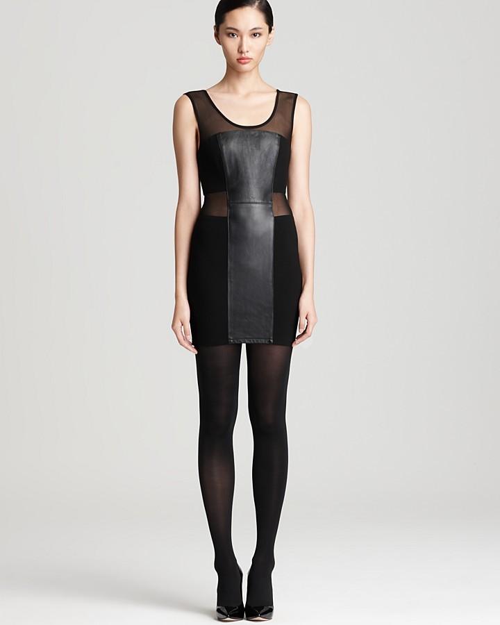 Blaque Label Dress - Leather Front Panel