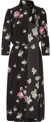 Marc Jacobs - Pussy-bow Fil Coupé Midi Dress - Black $1,800 thestylecure.com