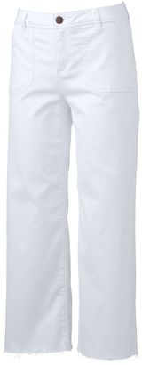 Women's LC Lauren Conrad Wide-Leg Cropped Twill Pants $50 thestylecure.com