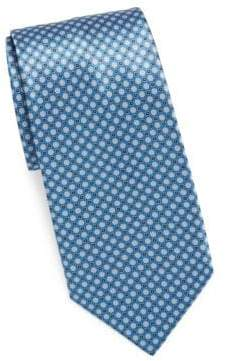 Brioni Printed Circle& Square Tie