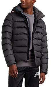 Rossignol Men's Pleated Quilted Tech-Fabric Jacket - Dark Gray