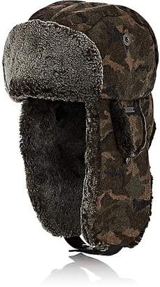 Crown Cap Men's Camouflage Melton Trapper Hat - Md. Green