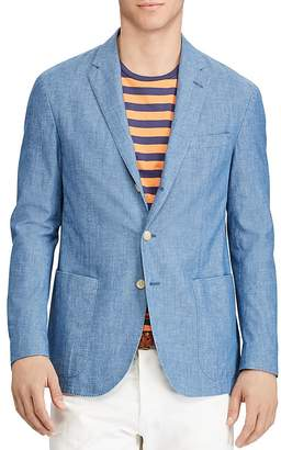 Polo Ralph Lauren Morgan Chambray Slim Fit Sport Coat $395 thestylecure.com
