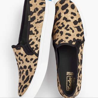 Talbots Keds(R) Double Decker Leopard Canvas Slip-On Sneakers