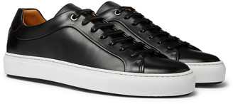 HUGO BOSS Mirage Burnished-Leather Sneakers