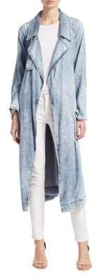Sea Acid Wash Chambray Trench