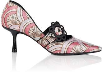 Fabrizio Viti Women's Daisy-Buckle Floral Jacquard Pumps