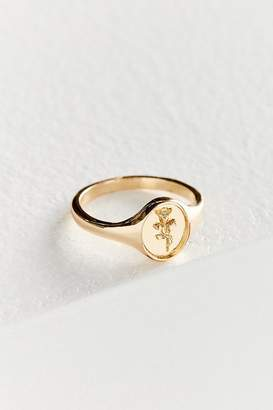 Urban Outfitters Rose Signet Ring