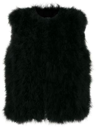 Yves Salomon turkey-feather gilet