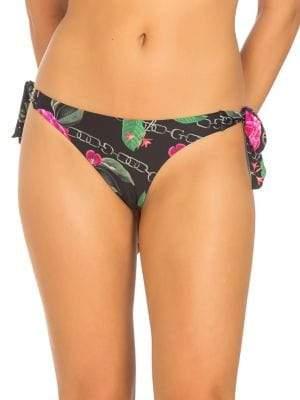 GUESS Floral-Print Brazilian Bikini Bottom