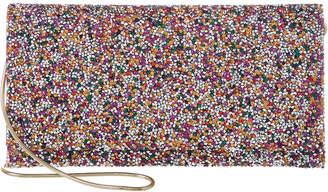 Sondra Roberts Confetti Cut-Crystal Clutch