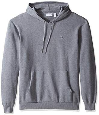Lacoste Men's Milano Stitch Hoody Cotton Sweater with Pockets-AH3008