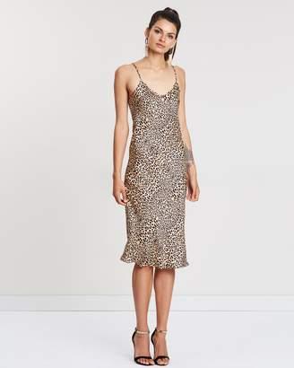 Printed 90's Silk Slip Dress