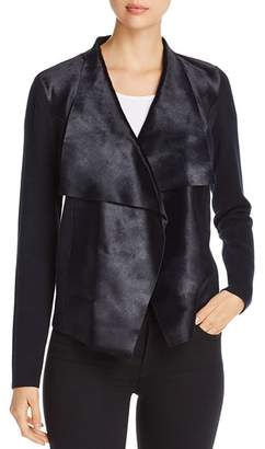 Elie Tahari Iona Draped Calf Hair Jacket