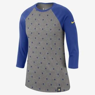 Nike Golden State Warriors Dri-FIT Women's 3/4-Sleeve NBA T-Shirt