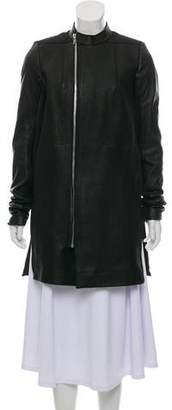 Rick Owens Leather Layered Coat