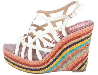 Paloma Barceló Patent Leather Wedge Sandals