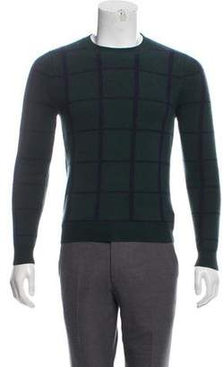 Opening Ceremony Window Check Merino Wool Sweater