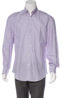 Brunello Cucinelli Checked Button-Up Shirt