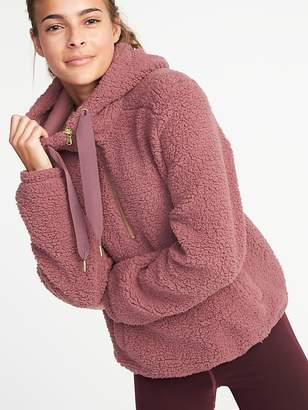 Old Navy Sherpa 1/2-Zip Popover Hoodie for Women