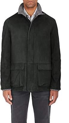 Barneys New York Men's Suede Zip-Front Coat