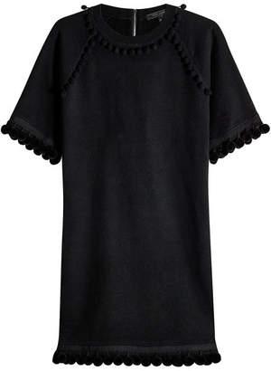 Marc Jacobs Cotton Sweatshirt Dress with Pompoms