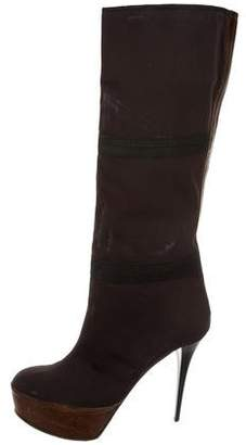 Marni Canvas Platform Boots