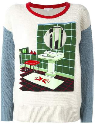 Olympia Le-Tan Olympia Le Tan Felt bathroom patch jumper